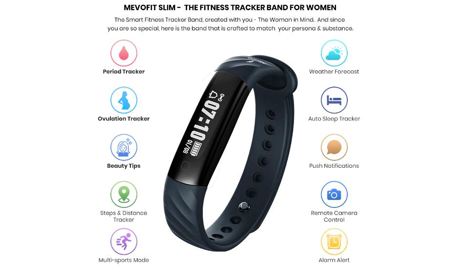 Mevofit Slim, Slim + HR 'women's only' fitness trackers