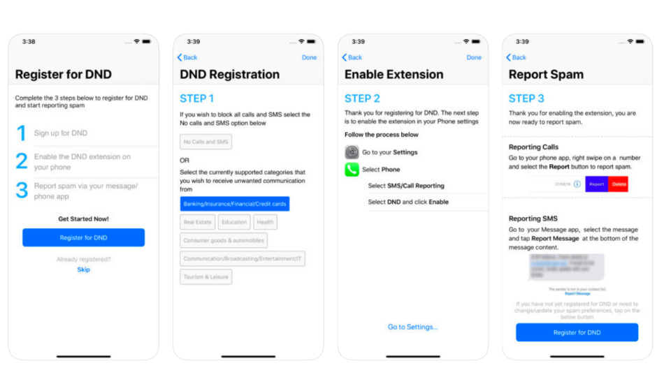 Apple TRAI DND app