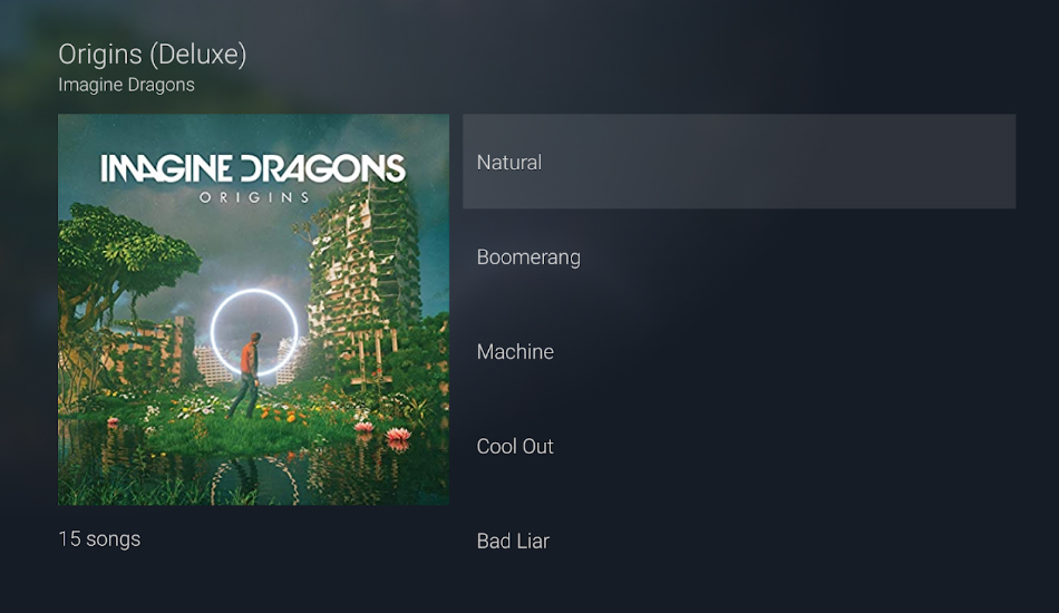 Amazon Prime Music app on Android TV