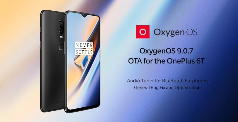 OnePlus 6T OxygenOS 9.0.7 update