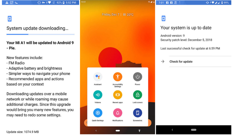 Xiaomi Mi A1 receives stable Android 9 Pie update, gets Dual 4G