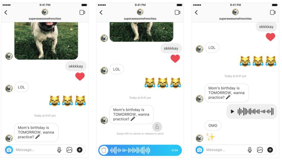Instagram Direct Voice Messages