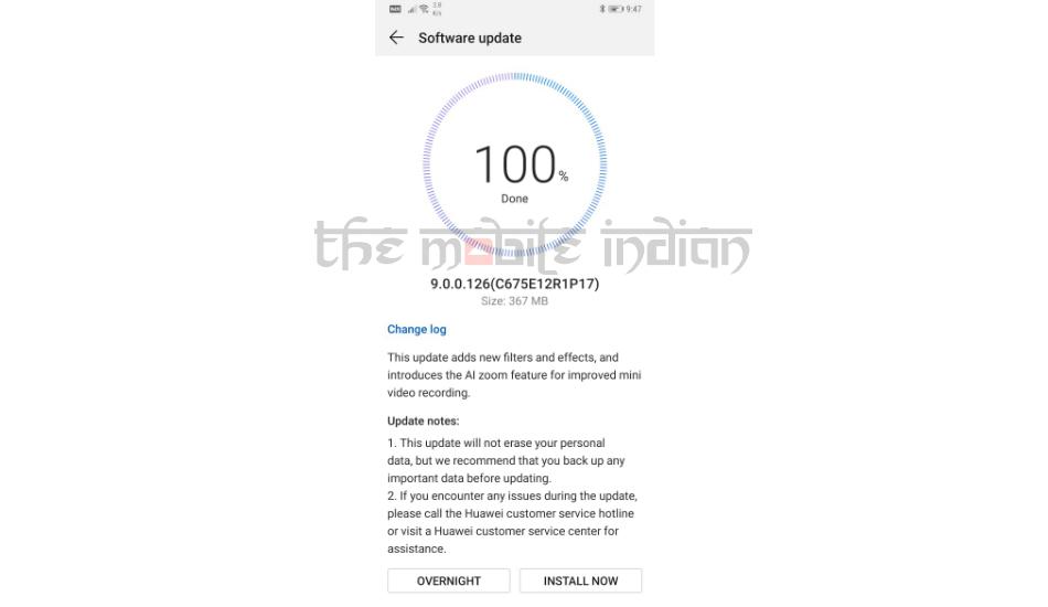 Huawei Mate 20 Pro EMUI 9.0.0.126 update