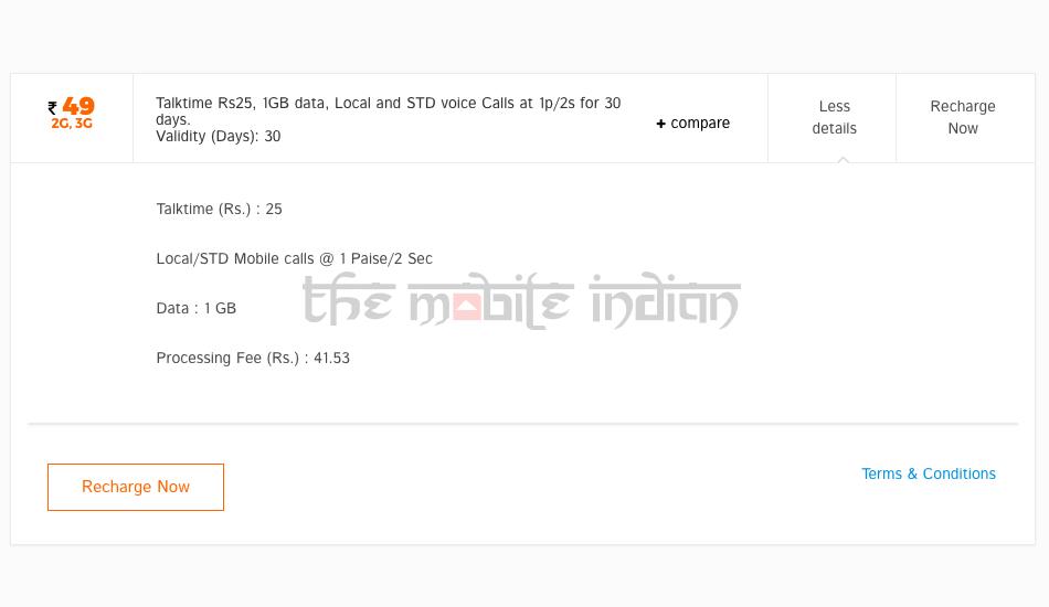 Tata Docomo Rs 49 prepaid plan