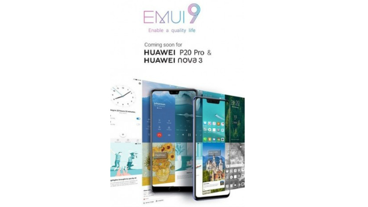 Huawei P20 Pro, Nova 3 to get Android 9 0 Pie update in
