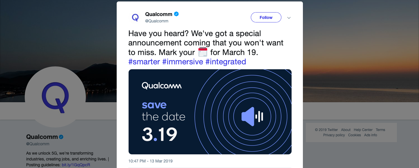 Qualcomm March 19 event