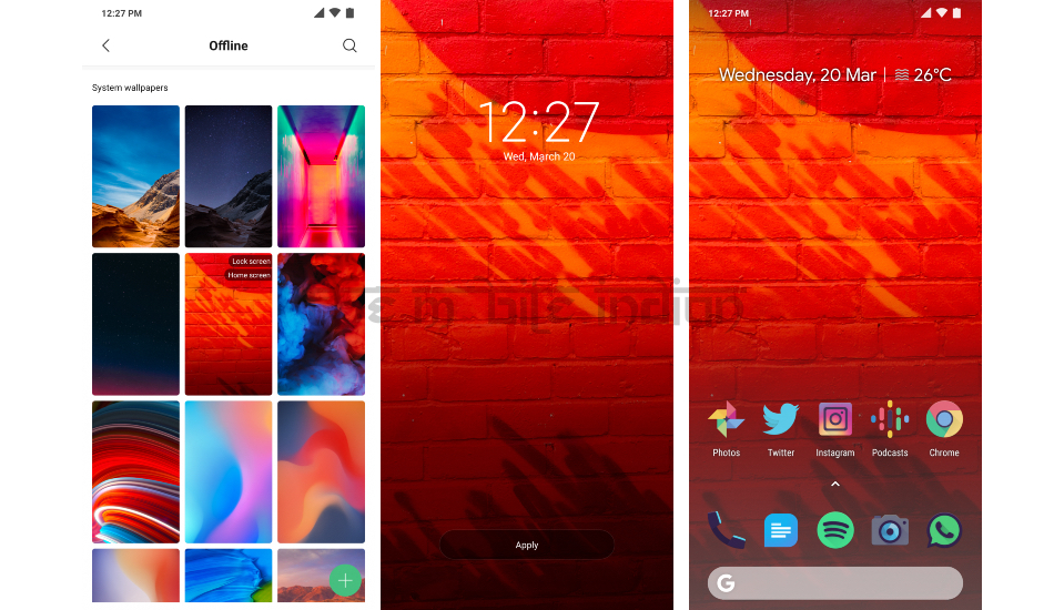 How Xiaomi copied a shot from an iPhone as its default system wallpaper