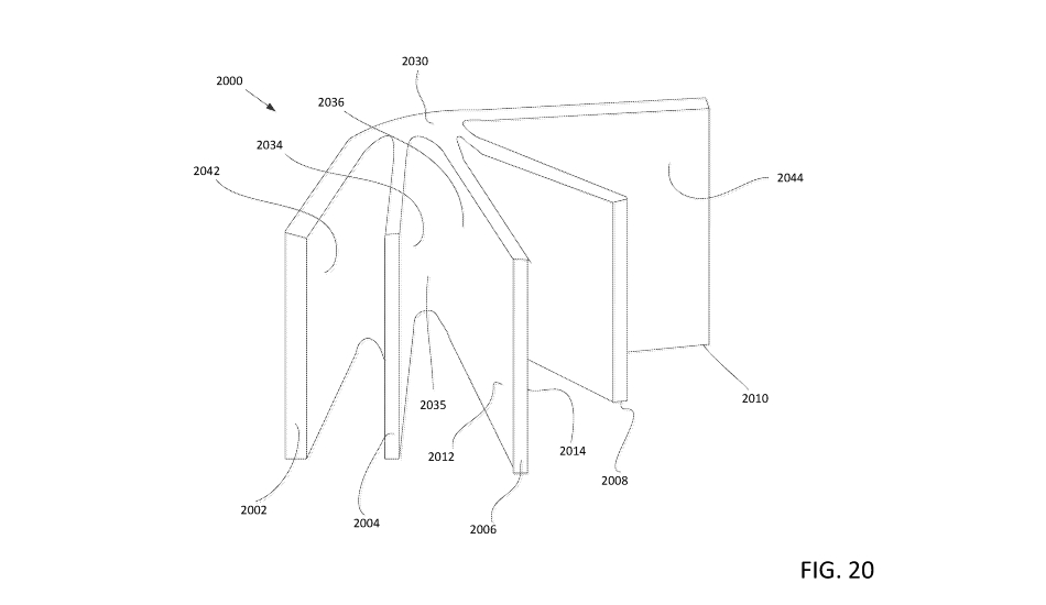 Google patents a foldable phone with multiple pages