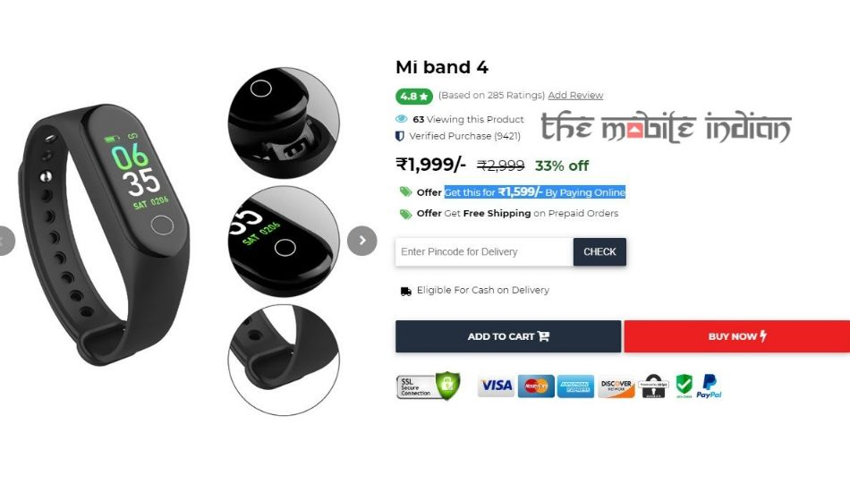 Xiaomi Mi Band 4 found listed in India at Rs 1999, could be fake