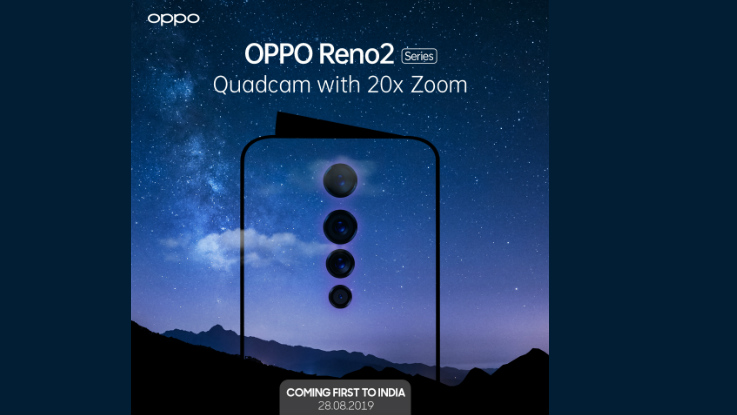 OPPO Teases Reno 2 Announcement; Launch To Happen On 28 August