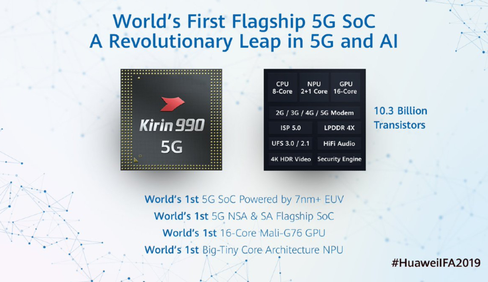 Huawei HiSilicon Kirin 990 and Kirin 990 5G