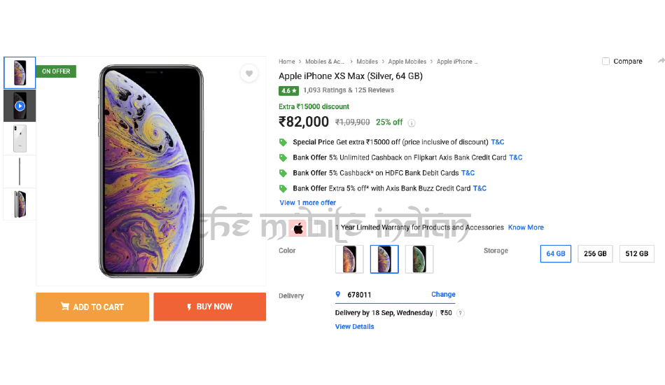 Apple iPhone XS Max Flipkart