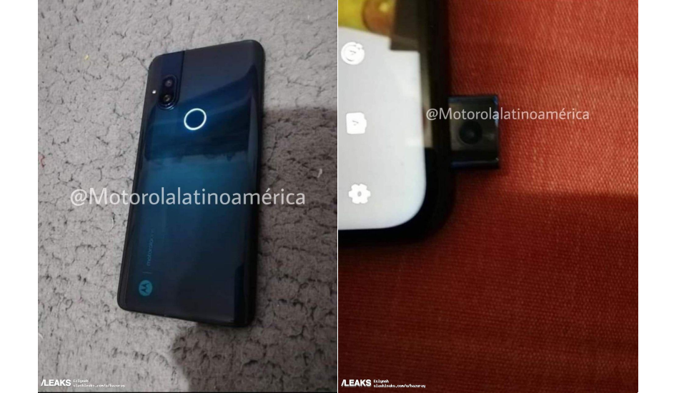 Moto phone with pop-up front camera