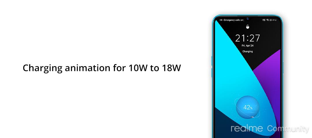 Realme UI new charging animation