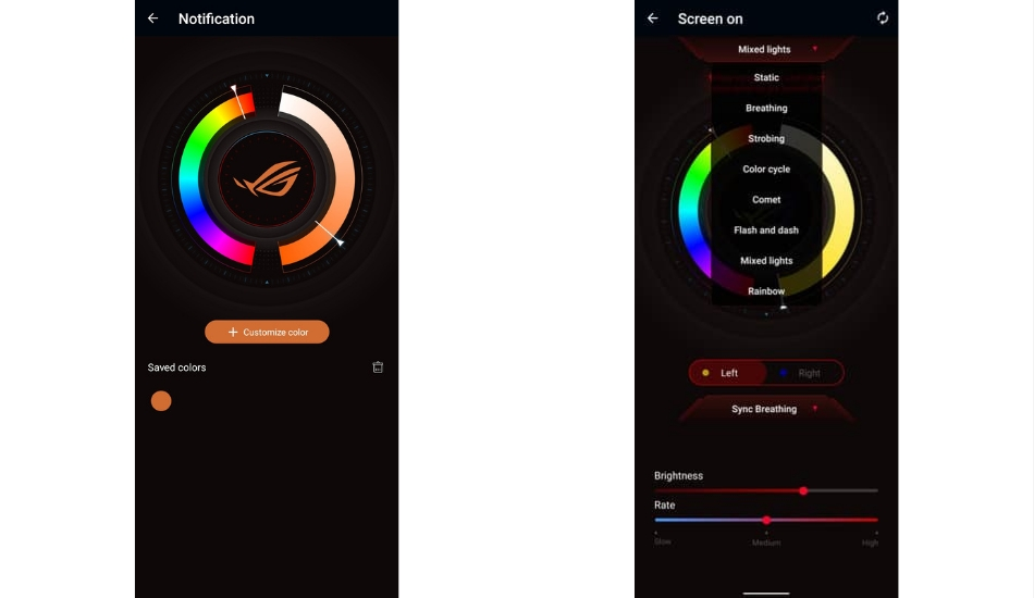 Asus ROG Phone 5 backlight