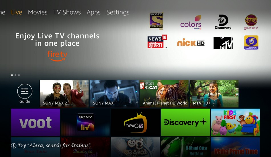Amazon Launches Live TV for Fire TV in India