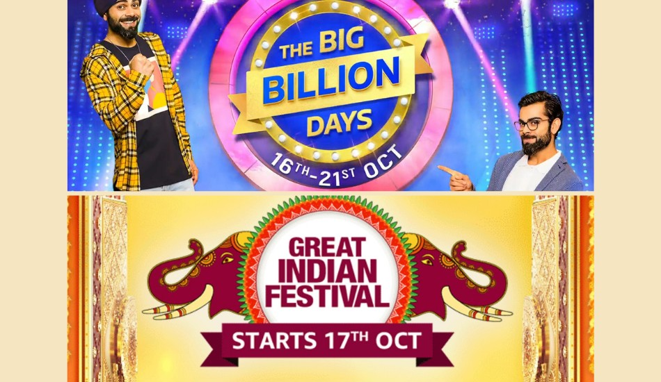 Flipkart Big Billion Days and Amazon Great Indian Festival: Best Deals