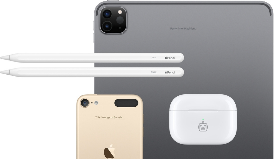 Indian Apple Store offers customers free personalized engraving options for text, emojis and more