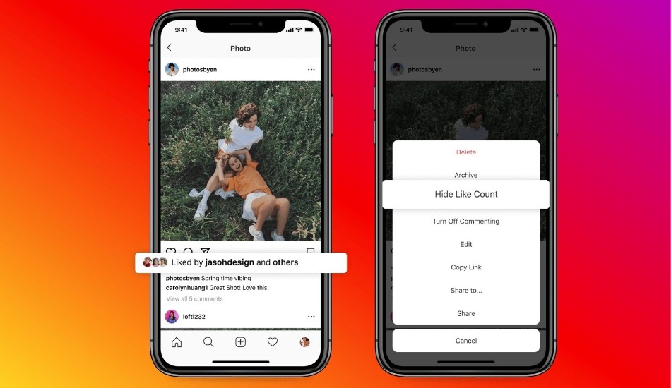 Instagram, Facebook to start allowing people to hide like counts on their feed and profile