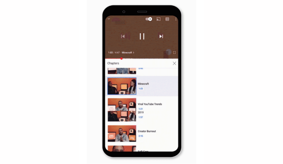 YouTube introduces new UI for video player along with gestures