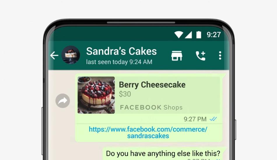 WhatsApp adds a Shopping Button inside WhatsApp Business Chats