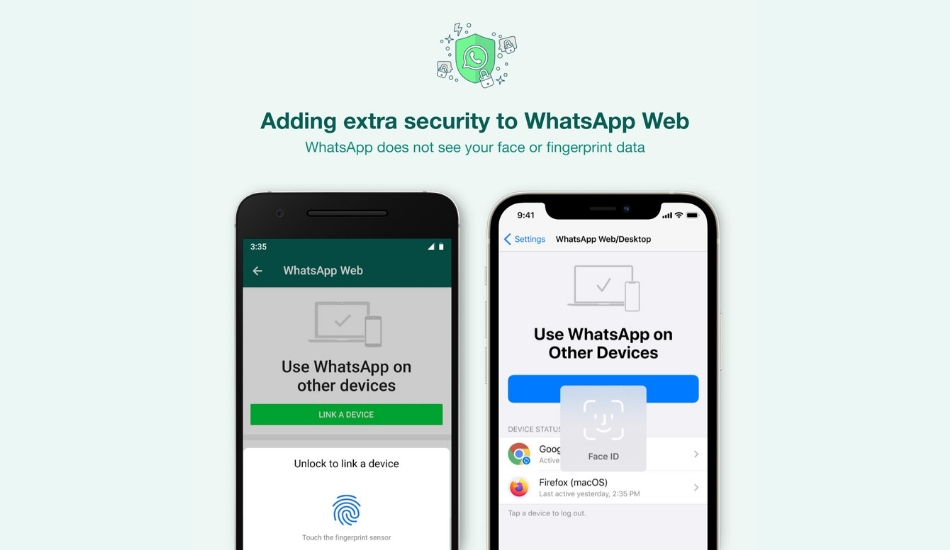 WhatsApp adds Face/Fingerprint unlock functionality while logging in to WhatsApp Web