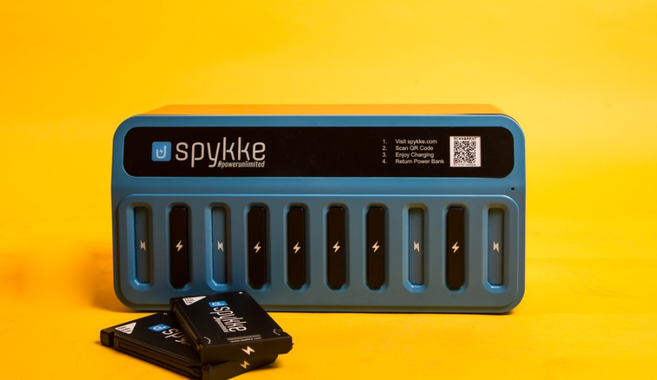Spykke: A service that provides you power banks on rent