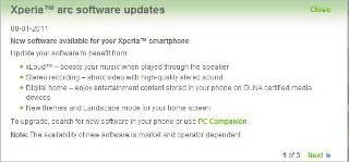 Sony Ericsson Xperia smartphones get upgrade