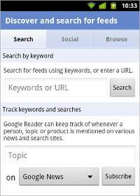 Updated Google Reader for Android makes way to marketplace