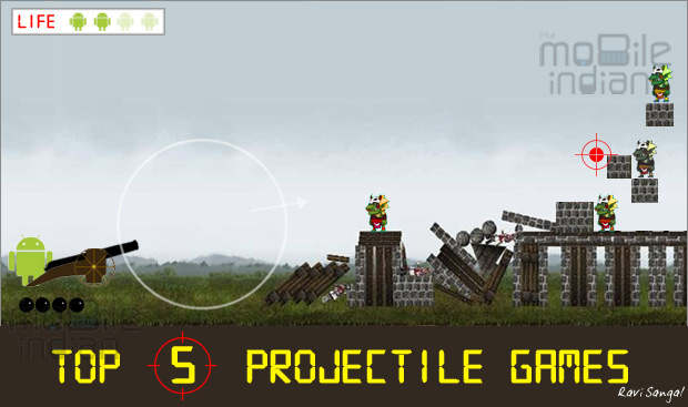 Top 5 projectile games on Android