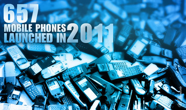 2011: 657 mobile devices were launched in India
