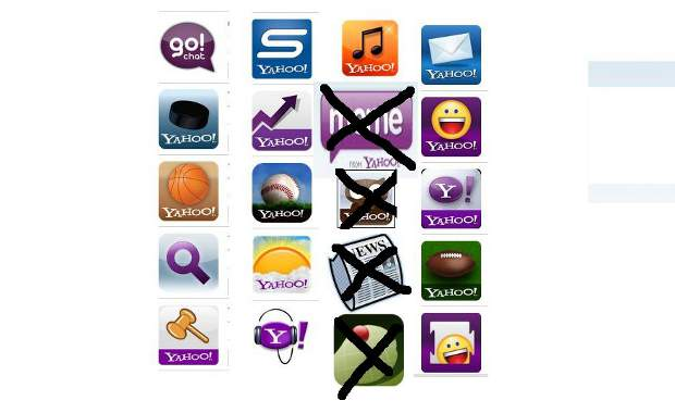 Ten Yahoo applications pulled from apps market