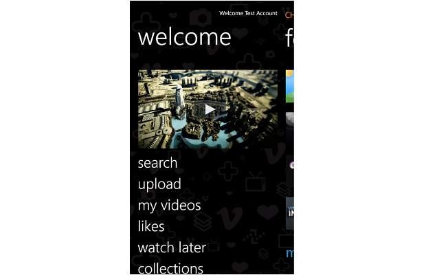 Vimeo app for Windows Phone allows HD video upload
