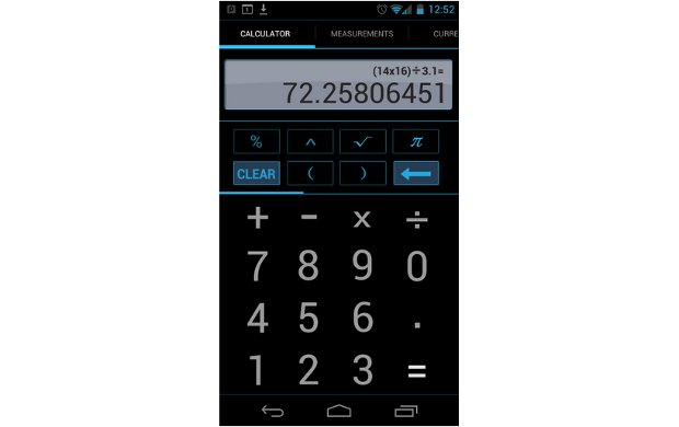 Android ICS brings a calculator with a difference
