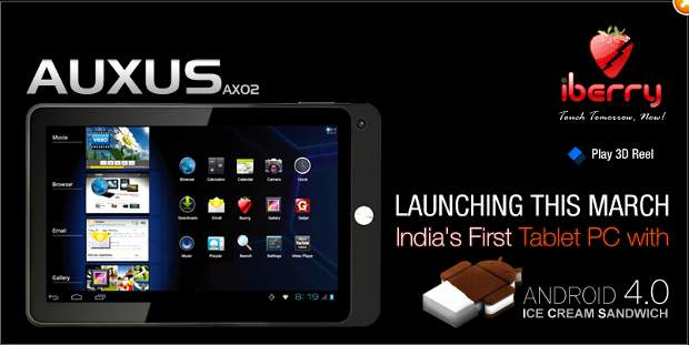 Cheapest Indian Android ICS tablet iBerry Auxus coming soon