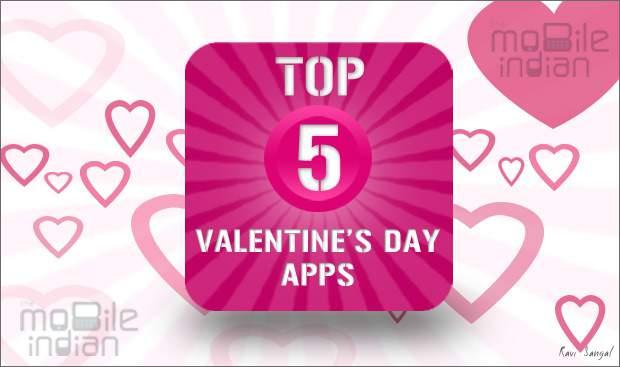 Top 5 Valentine's Day app