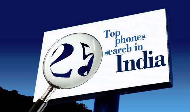 Top 25 most searched phones in India - Jan