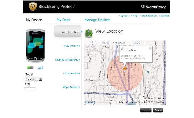 How to setup BlackBerry Protect