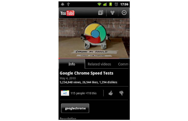 Android Froyo devices can now play YouTube HD videos