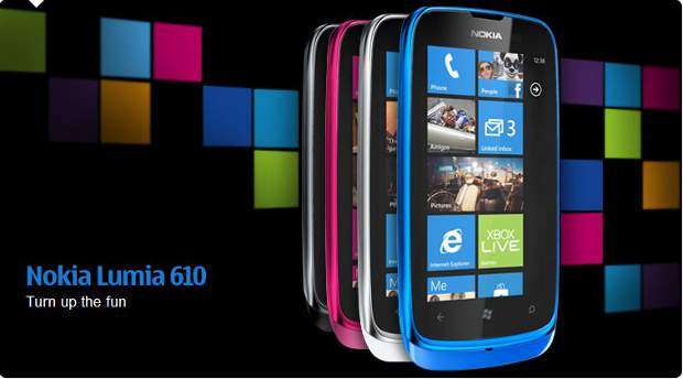 Nokia Lumia 610 coming to India for Rs 11,000