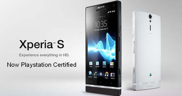 PlayStation certified Sony Xperia S coming to India in April