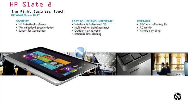 HP Slate 8 tablet with Windows 8 up in the anvil