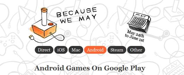 Huge discounts on mobile games, apps from Because We May
