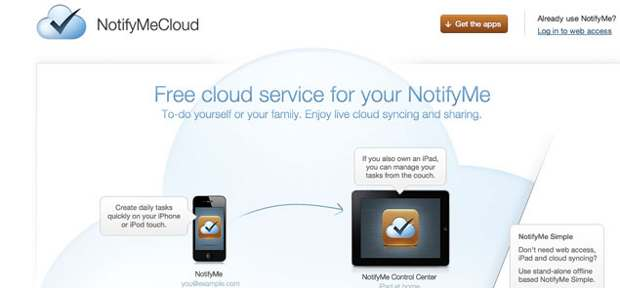 NotifyMe now available for free for iPad