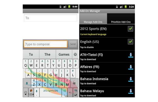 Keyboard app for sport enthusiasts launched
