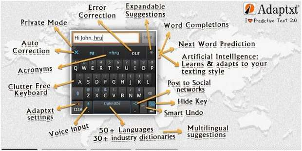 Adaptxt keyboard app claims to make on-screen typing easier