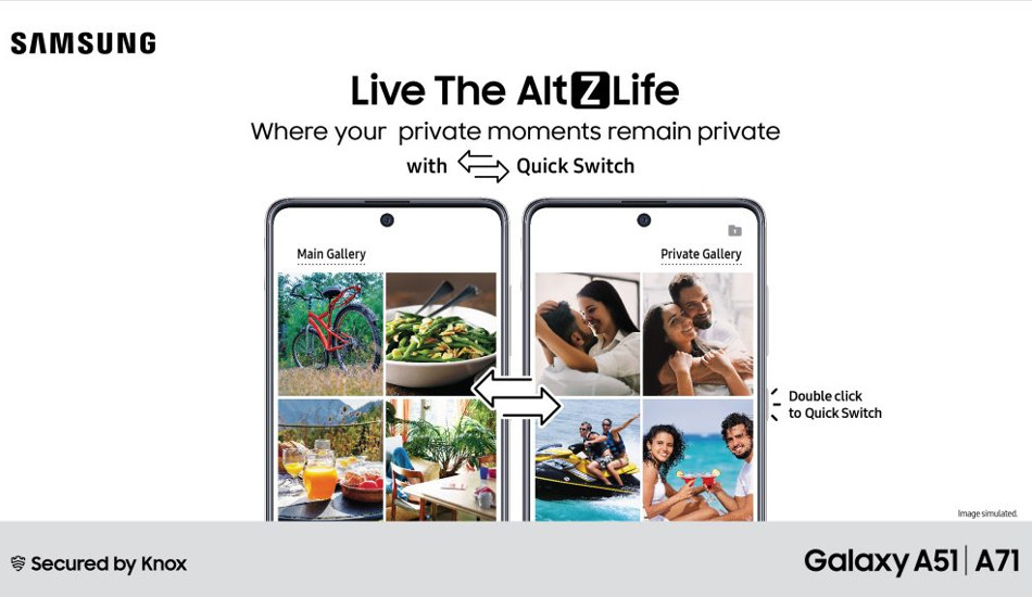 Samsung introduces AltZLife private mode on Galaxy A71, A51