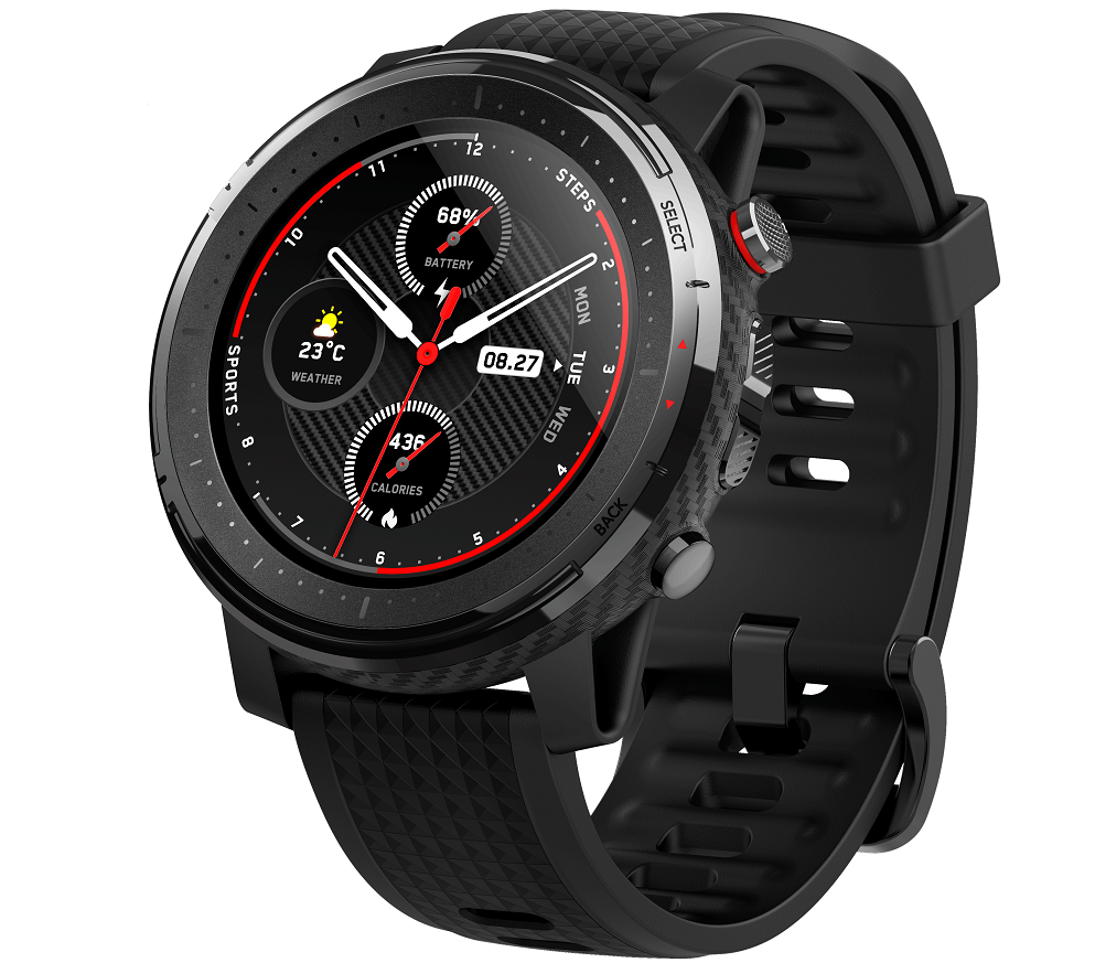 Amazfit Stratos 3 with 1.34-inch colour touch display, 80 sports modes launched in India for Rs 13,999