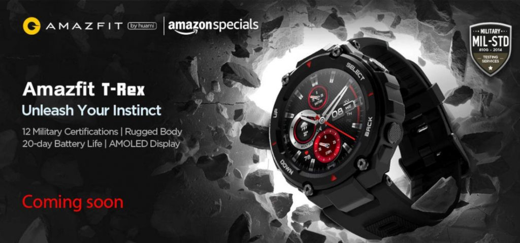 Amazfit T-Rex to launch in India in second week of June via Amazon