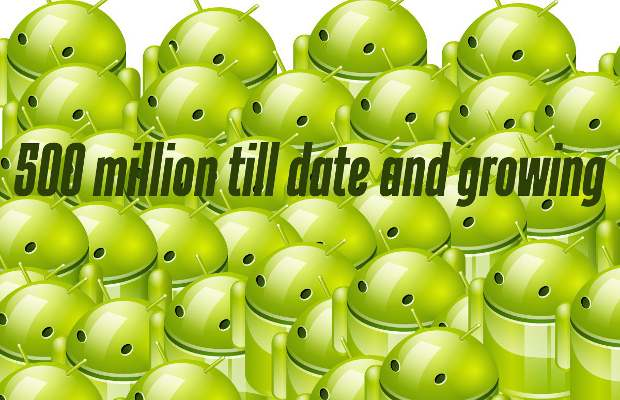 500 million Android devices sold till date
